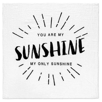 MODERN BURLAP Modern Burlap Organic Cotton Muslin Swaddle - You Are My Sunshine