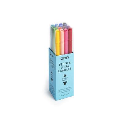 OMY OMY Set of 16 Ultra Washable Markers