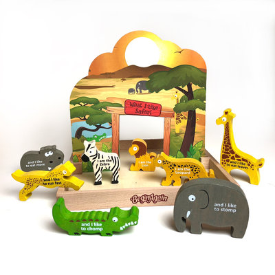 BEGIN AGAIN TOYS BeginAgain What I Like... Safari Story Box Play Set