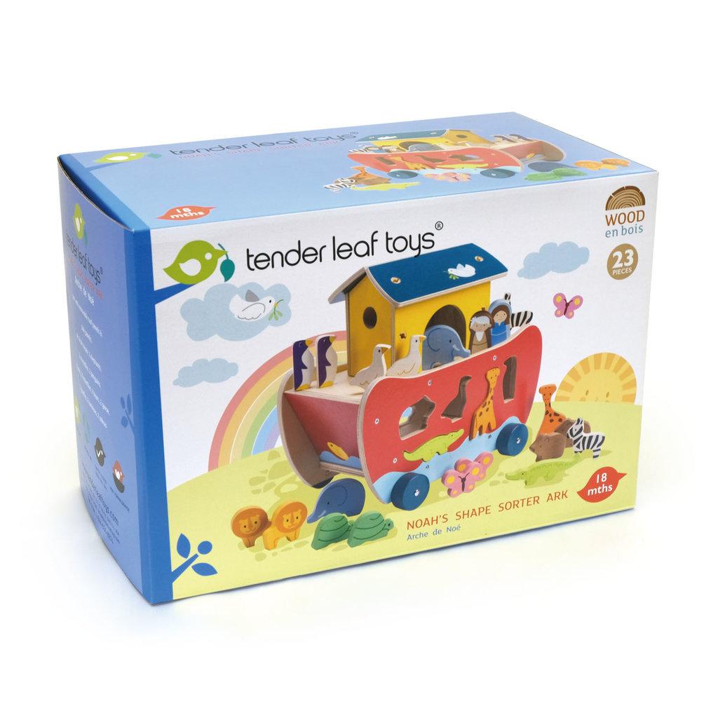 TENDER LEAF TOYS Tender Leaf Noah's Shape Sorter Ark