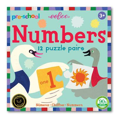 Eeboo Pre-School Number Puzzle Pairs