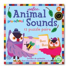 Eeboo Pre-School Animal Sounds Puzzle Pairs
