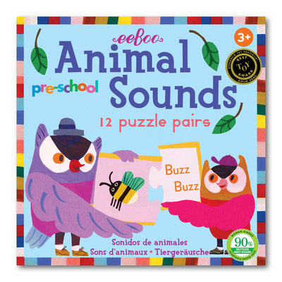 Eeboo Pre-School Animal Sounds Puzzle Pairs