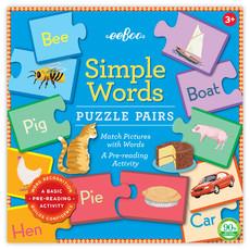 Eeboo Simple Word Puzzle Pairs