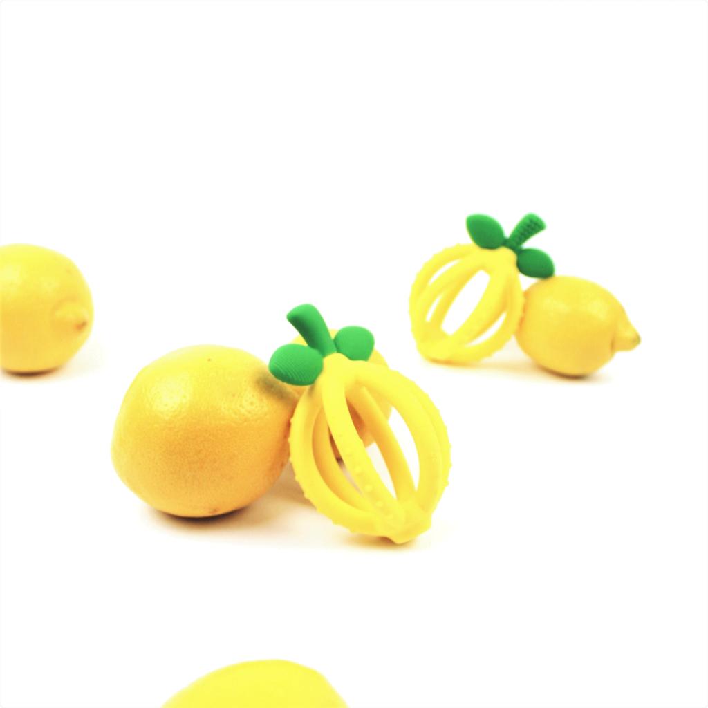 ITZY RITZY Itzy Ritzy Lemon Drop Silicone Teether Ball