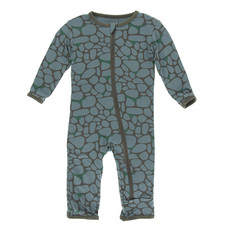 KICKEE PANTS Kickee Pants Sea Rolled Rocks Coverall with Zipper