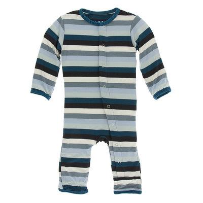 KICKEE PANTS Kickee Pants Meteorology Stripe Coverall with Zipper