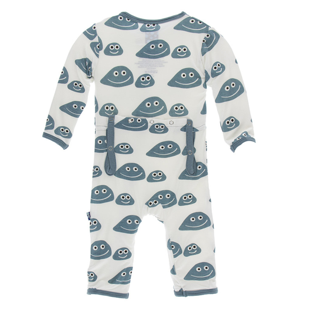 KICKEE PANTS Kickee Pants Natural Pet Rocks Coverall with Zipper