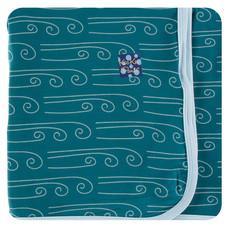 KICKEE PANTS Kickee Pants Swaddling Blanket - Blues