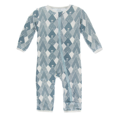KICKEE PANTS Kickee Pants Dusty Sky Mountains Coverall with Zipper