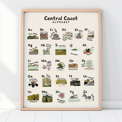 AMANDA LEE DESIGN Central Coast Alphabet Poster