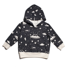 WINTER WATER FACTORY Winter Water Factory Hoodie - Outer Space Charcoal