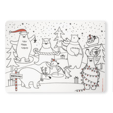 modern-twist Modern-Twist Mark-Mat Set - Holiday Polar Bear