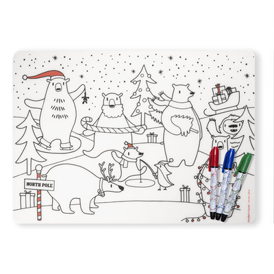 modern-twist Modern-Twist Mark-Mat Set - Holiday Polar Bear