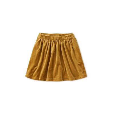 TEA COLLECTION Tea Velour Twirl Skirt - Chestnut
