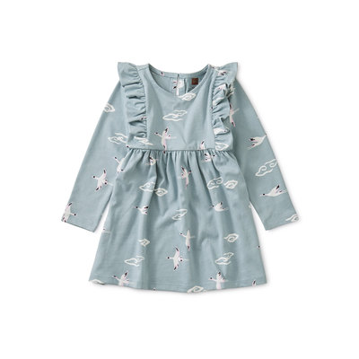 TEA COLLECTION Tea Crane Cloud Ruffle Baby Dress