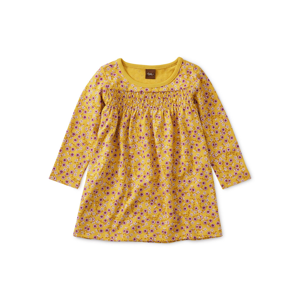 TEA COLLECTION Tea Valley of the Flowers Smocked Baby Dress