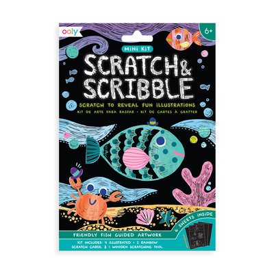 OOLY OOLY Mini Scratch & Scribble Art Kit