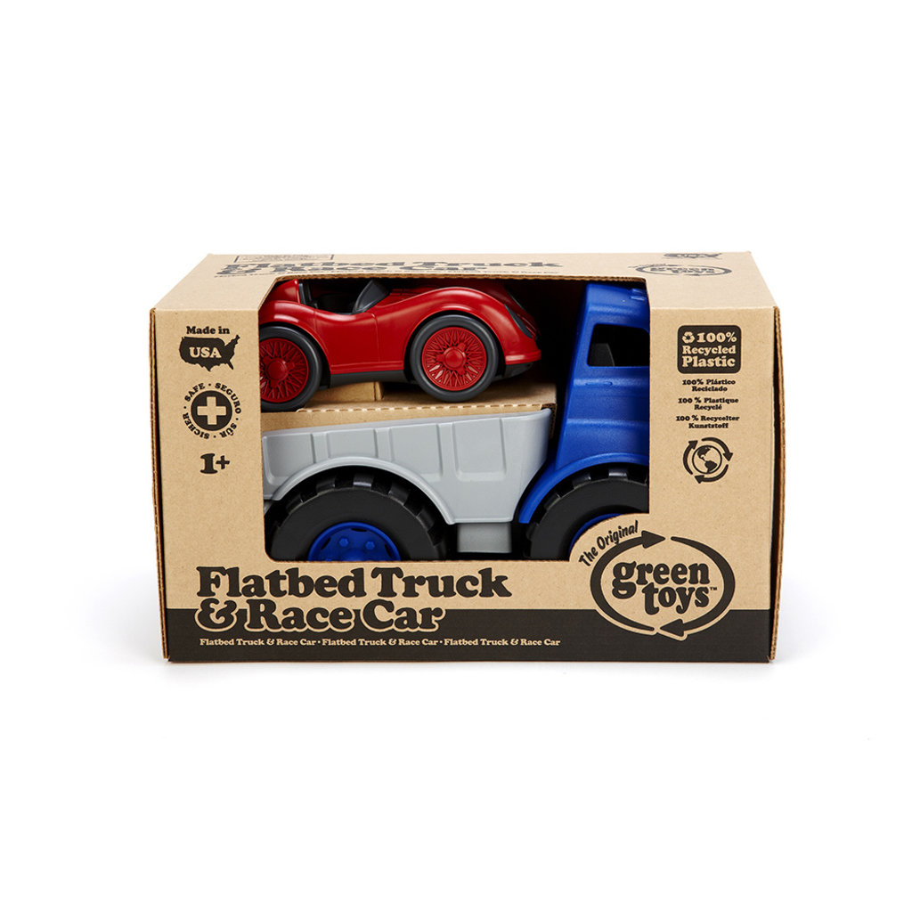 GREEN TOYS Green Toys Flat Bed Truck with Race Car
