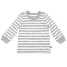ZUTANO Zutano Heather Stripe Organic Cotton Long Sleeve Crewneck
