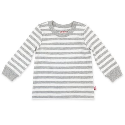 ZUTANO Zutano Heather Stripe Organic Cotton Long Sleeve Crewneck