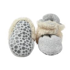 ZUTANO Zutano Fleece Furry Lined Booties w/ Grippers