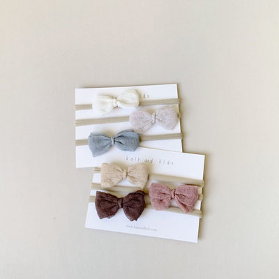 Kait and Kids Kait and Kids Gauze Bow Headbands