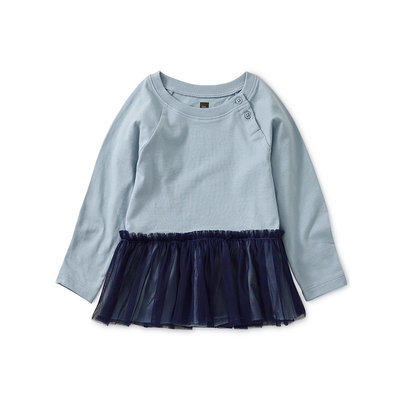 TEA COLLECTION Tea Tulle Trimmed Top