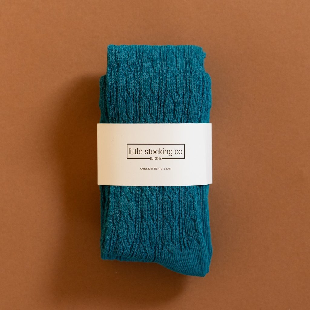 THE LITTLE STOCKING CO Little Stocking Co Cable Knit Tights - Capri