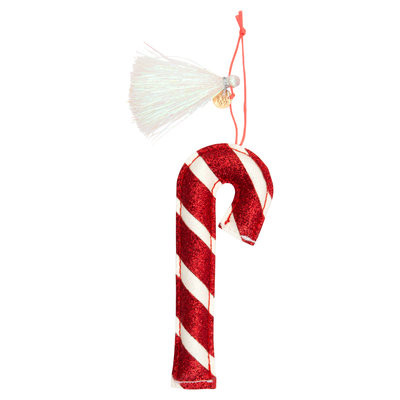 MERI MERI Meri Meri Candy Cane Glitter Fabric Tree Decoration