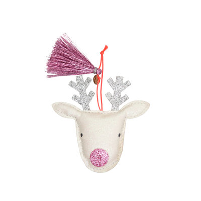 MERI MERI Meri Meri Reindeer Glitter Fabric Tree Decoration