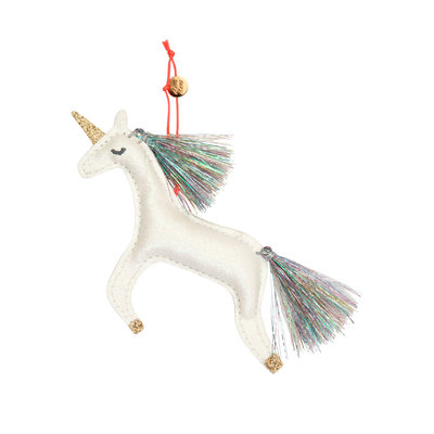 MERI MERI Meri Meri Unicorn Glitter Fabric Tree Decoration