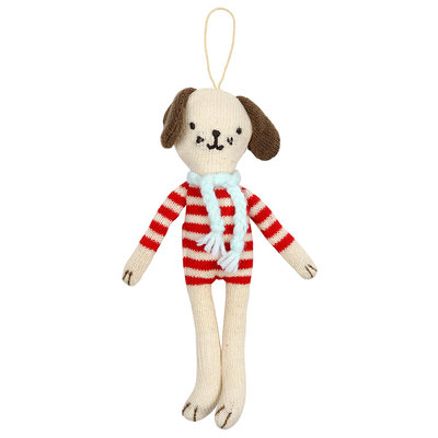 MERI MERI Meri Meri Stripy Dog Tree Decoration
