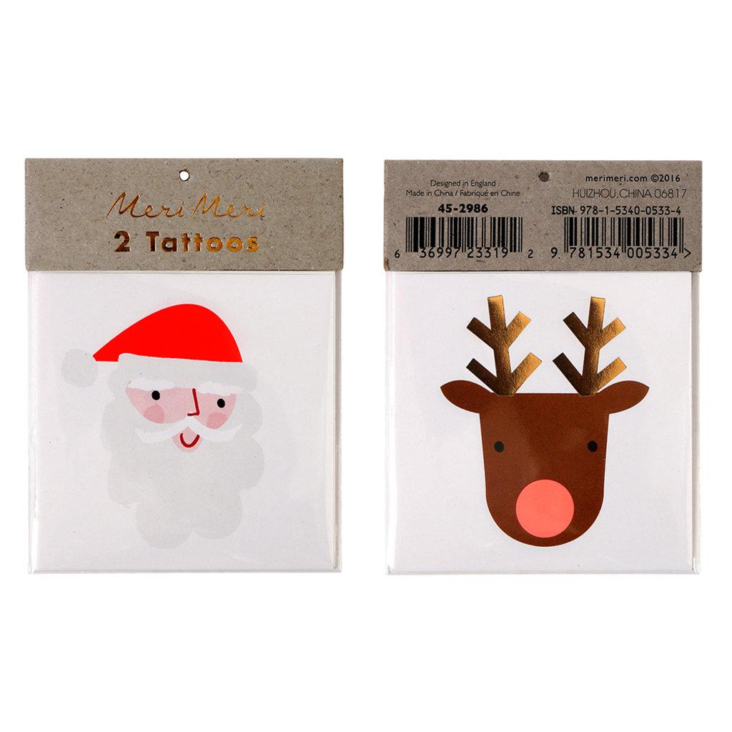 MERI MERI Meri Meri Santa & Reindeer Tattoos