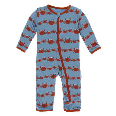 KICKEE PANTS Kickee Pants Blue Moon Crab Family Coverall with Zipper