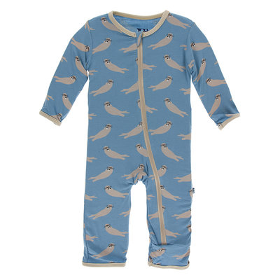 KICKEE PANTS Kickee Pants Blue Moon Sea Otter Family Coverall with Zipper