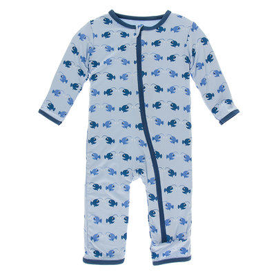 KICKEE PANTS Kickee Pants Pond Angler Fish Coverall with Zipper