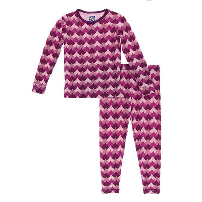 KICKEE PANTS Kickee Pants Melody Waves Long Sleeve Pajama Set