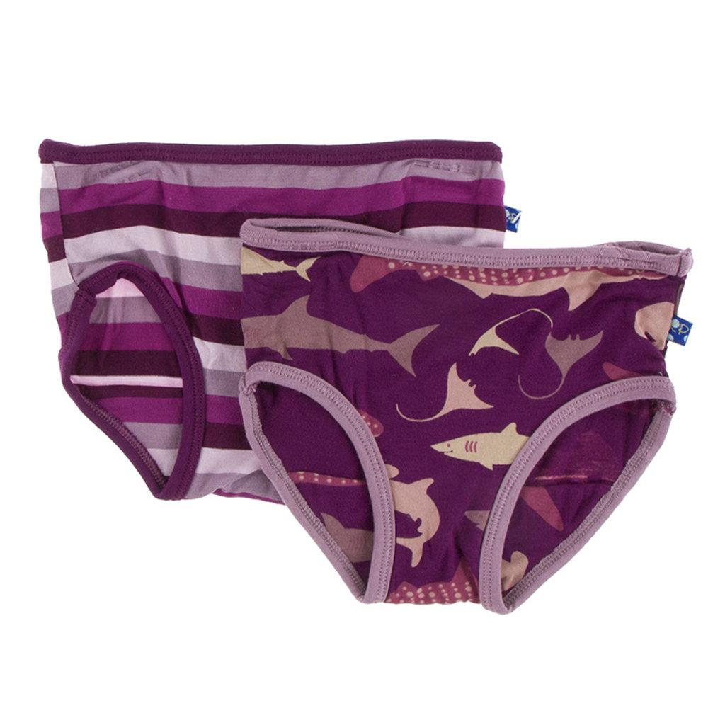 KICKEE PANTS Kickee Pants Oceanography Girls Underwear Set
