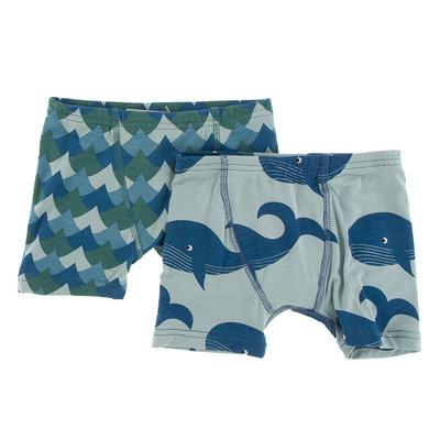 KICKEE PANTS Kickee Pants Oceanography Boxer Briefs Set