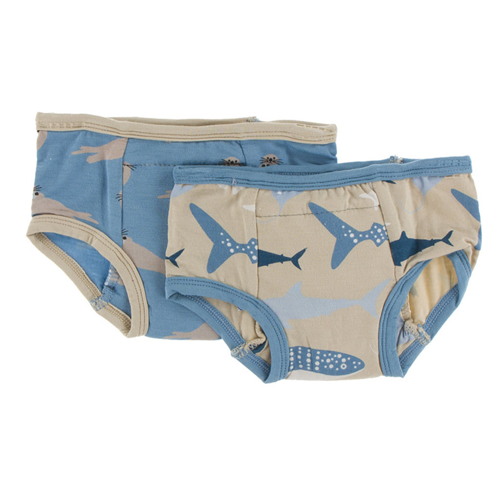KICKEE PANTS Kickee Pants Oceanography Training Pants Set