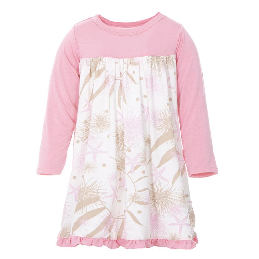 KICKEE PANTS Kickee Pants Natural Sea Garden Long Sleeve Swing Dress