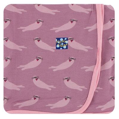 KICKEE PANTS Kickee Pants Oceanography Swaddling Blanket - Pinks
