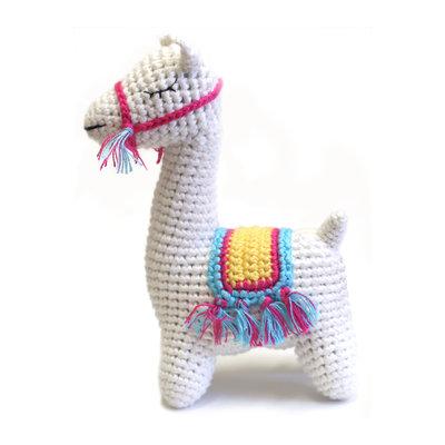 CHEENGOO Cheengoo Llama Crocheted Rattle
