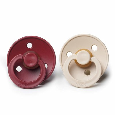 Mushie BIBS Natural Rubber Baby Pacifier 2 pack