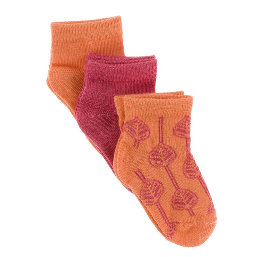 KICKEE PANTS Kickee Pants Botany Low Sock Set