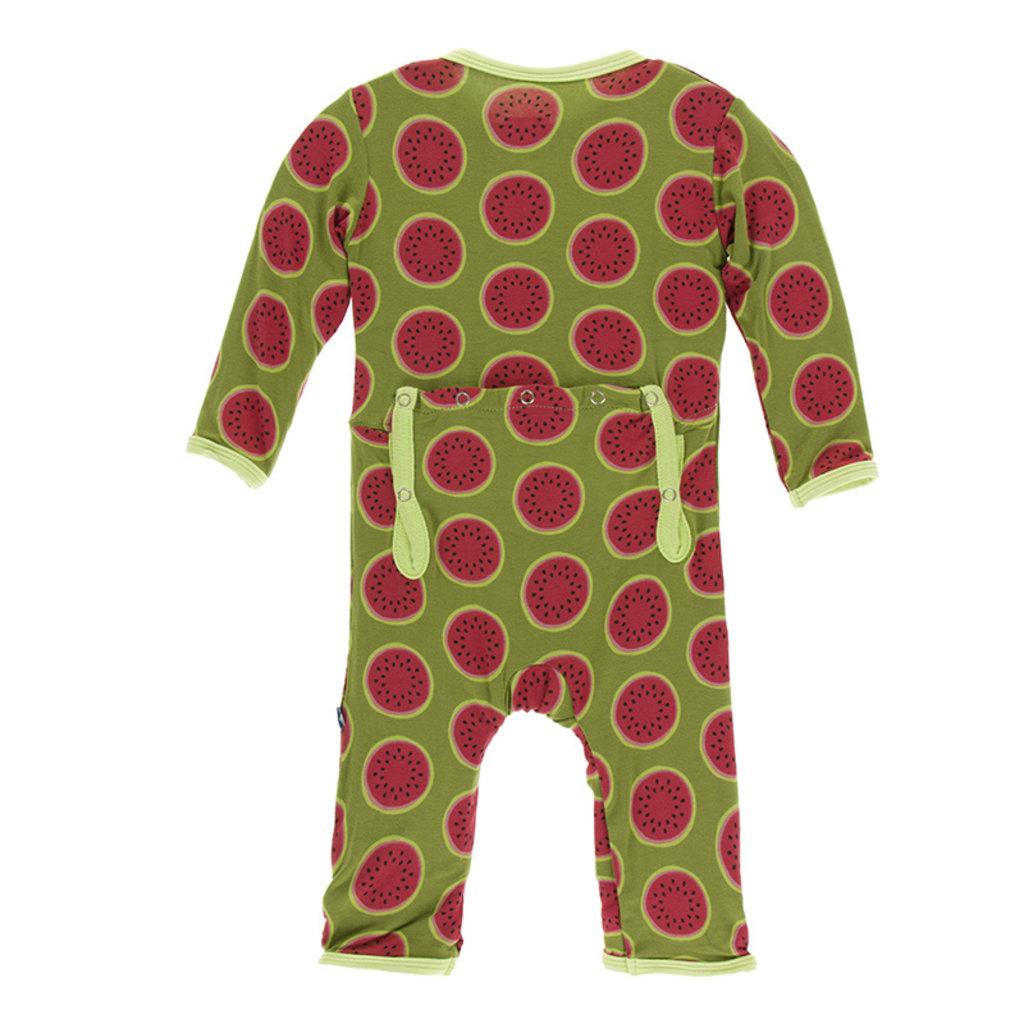 KICKEE PANTS Kickee Pants Neptune Watermelon Coverall with Zipper