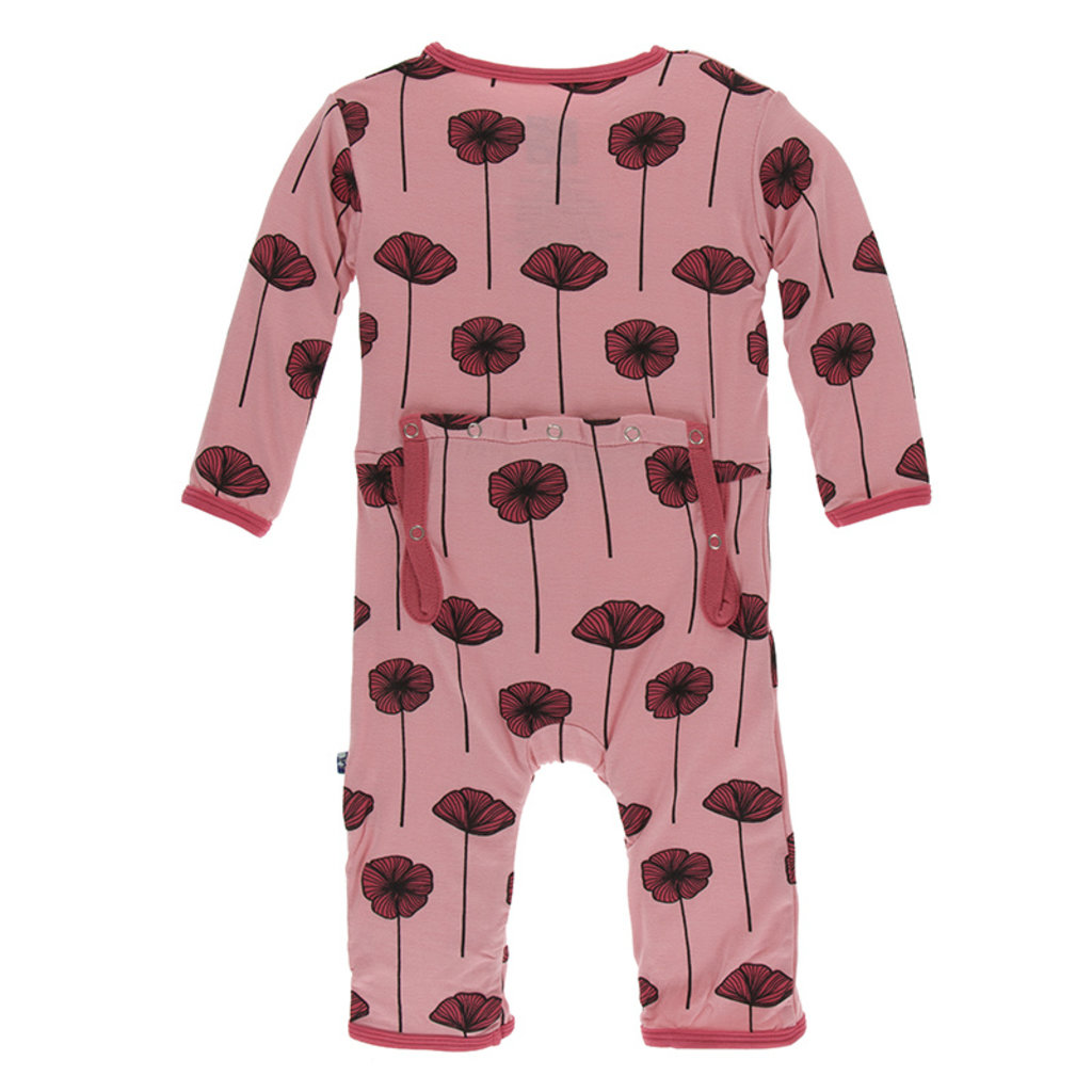 KICKEE PANTS Kickee Pants Strawberry Poppies Coverall with Zipper