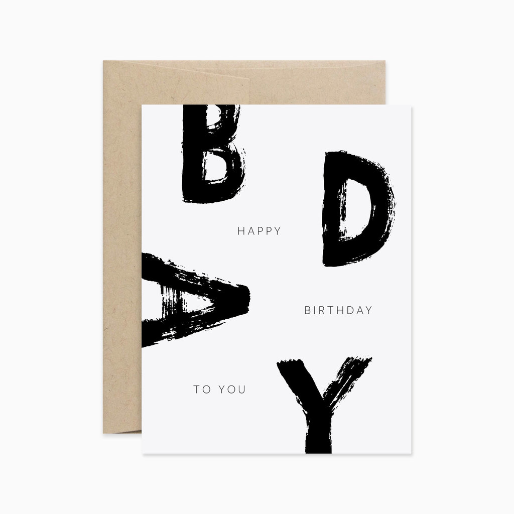 EVERMORE PAPER CO Brush Happy Birthday Card