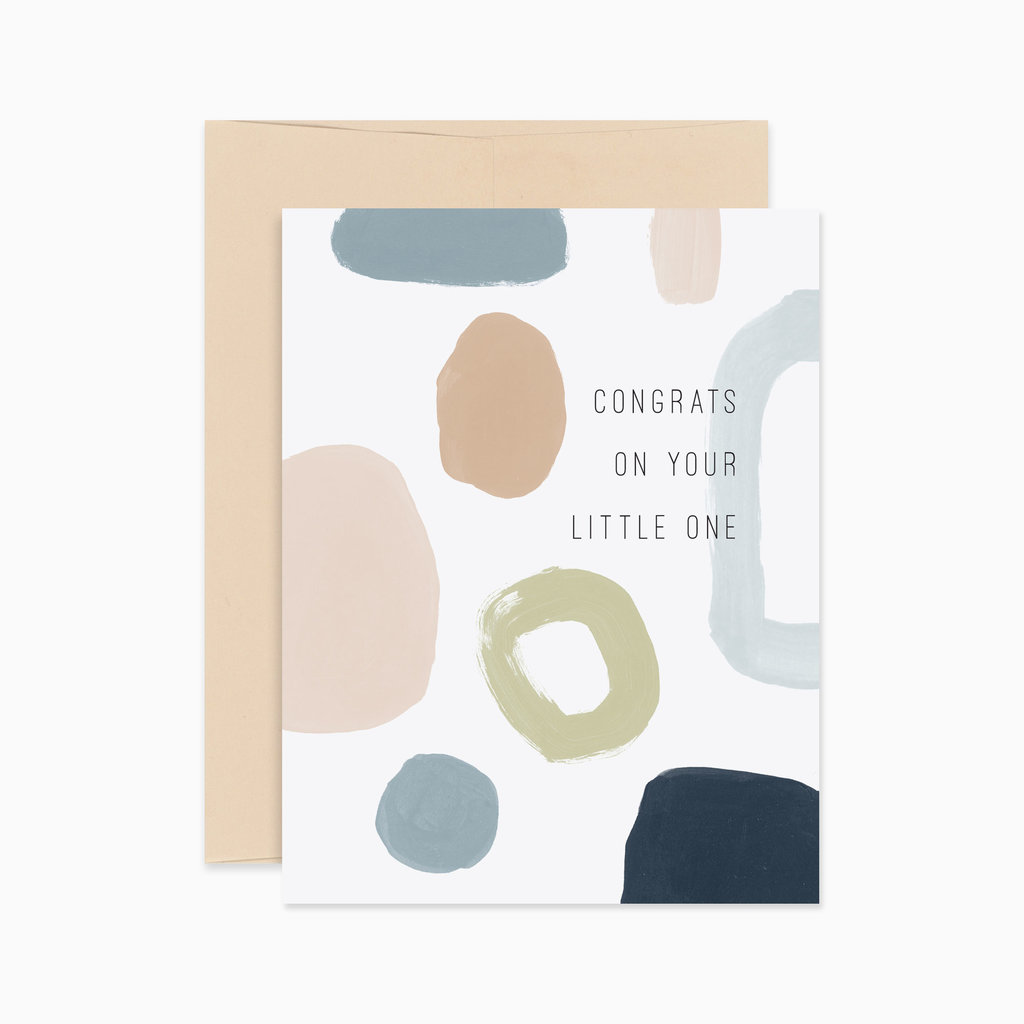 EVERMORE PAPER CO Abstract Baby Card